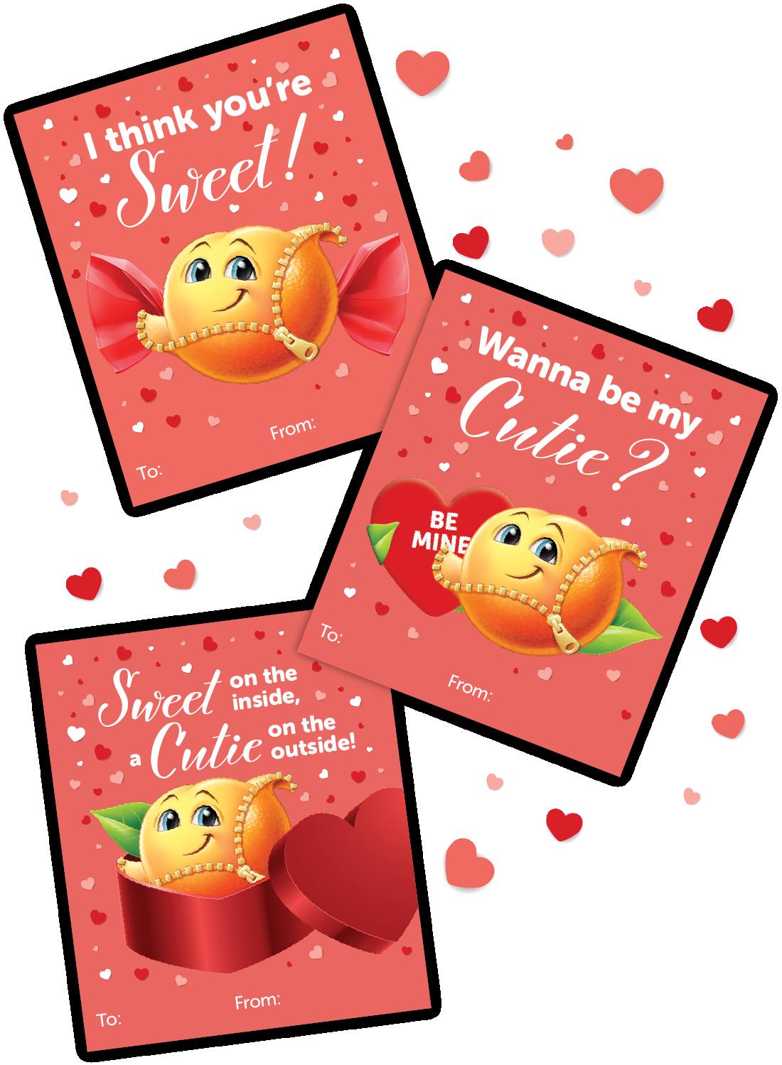 cuties printable valentines